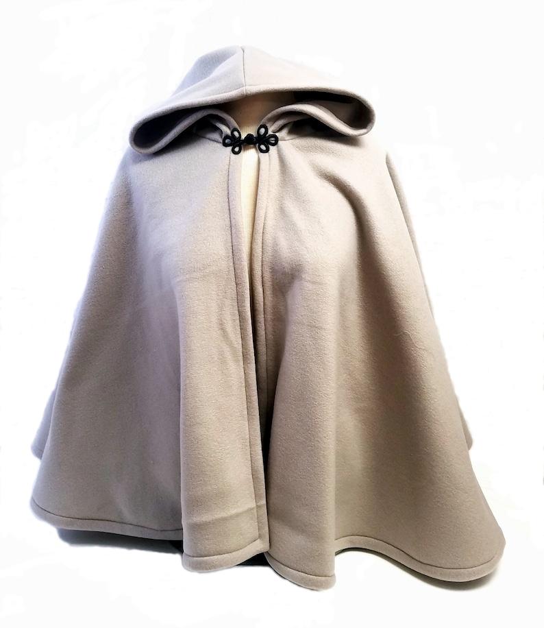 90d471f97d Short Fleece Cloak - Medium Grey Full Circle Cloak Cape with Hood - Fall  Fleece Jacket