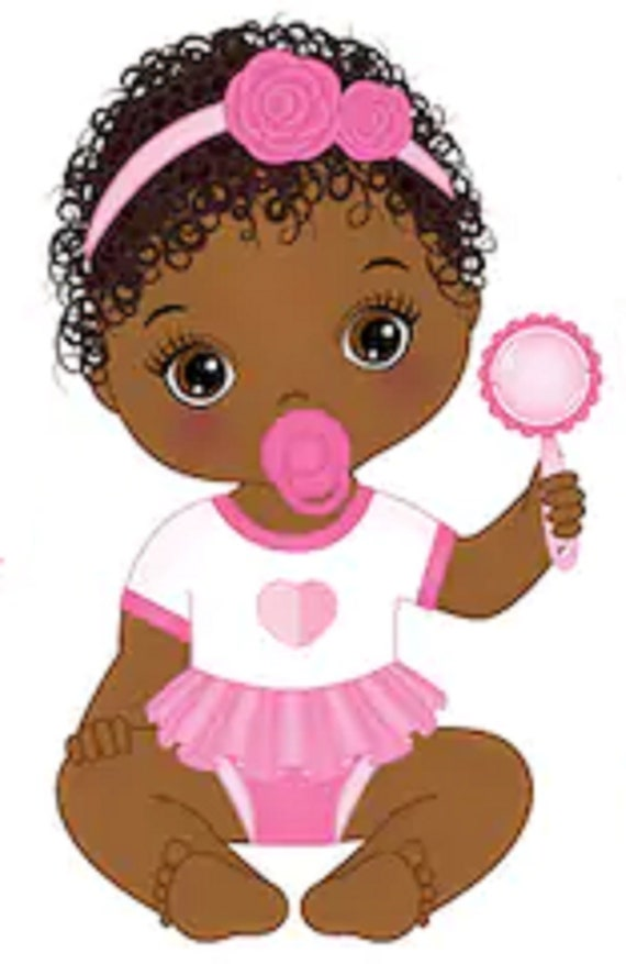 African American Princess w// accessories stickers for planners and scrapbooking