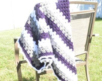Hand Crochet Granny Square Baby Blanket