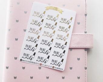Folie Farbe Nägel Sticker | für den Einsatz mit Erin Condren Kikki k, Filofax, Kugel Zeitschrift, Schönheit-Aufkleber, Salon-Aufkleber