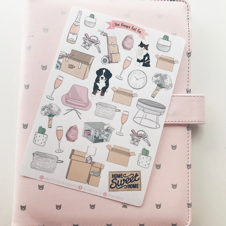 Moving House Decorative Planner Stickers image 0