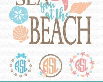 Beach monogram | Etsy