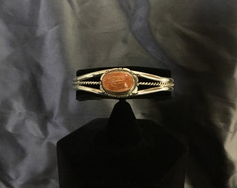 Authentic Navajo Spiny Oyster Cuff Bracelet
