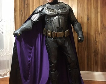 Cape PLEATHER Batman Men/'s Cloak VERY FULL Bat Man 13 Points Handmade size S XL