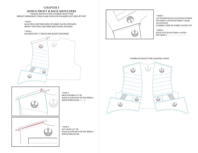 image about Printable Vest Pattern identify Star Wars Vest Printable Electronic Sewing Practice + Guideline + Insurrection Brand PDF Record, X-Wing Pilot Habit, Poe Dameron vest Practice