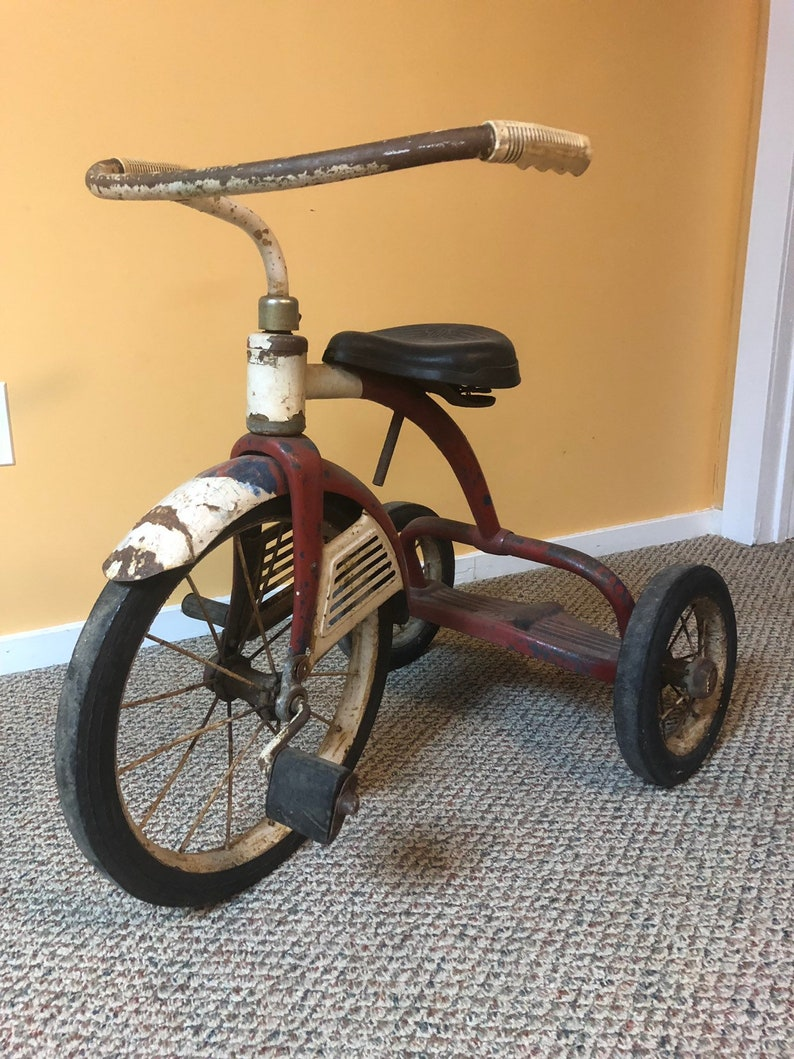 80d2861f3fb Antique tricycle M Star HOSHIMOGO INCORPORATED 75 years old   Etsy