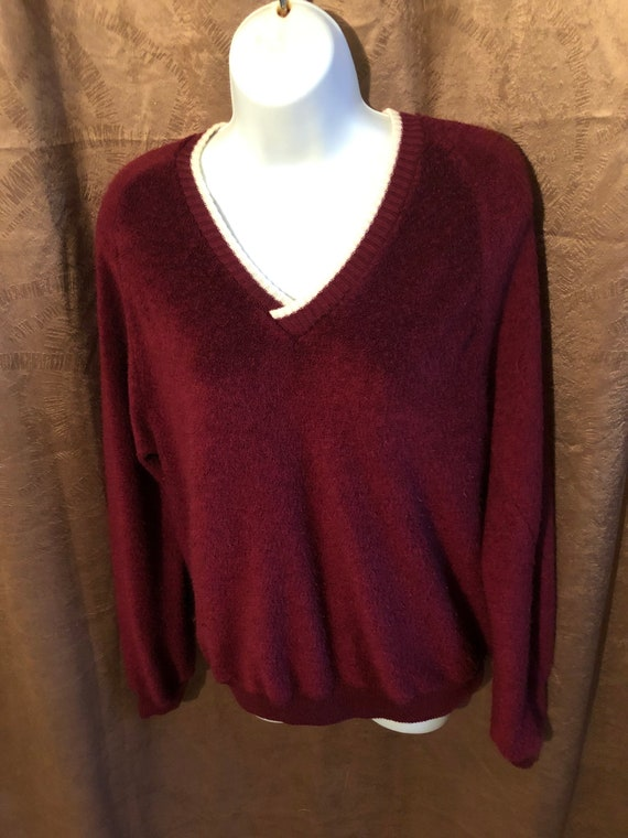 vintage 50s mens V neck pullover collegiate sweate