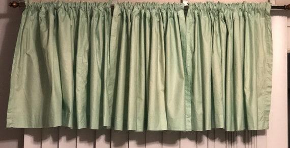 Vintage Estate Retro Mint Green Cafe Curtains Etsy