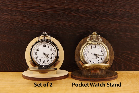 40 Pocket Watch Holder Easel Display Stand Wood Display Watch Etsy Beauteous Small Wooden Display Stands