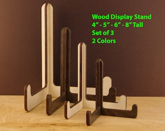 3 Wood Display Stand Easel Wooden Easel Display Stand Wedding Menu Holder Rustic Wedding Sign Holder Wooden Plate Photo Stand Easel SG05 : plate easel stand - pezcame.com
