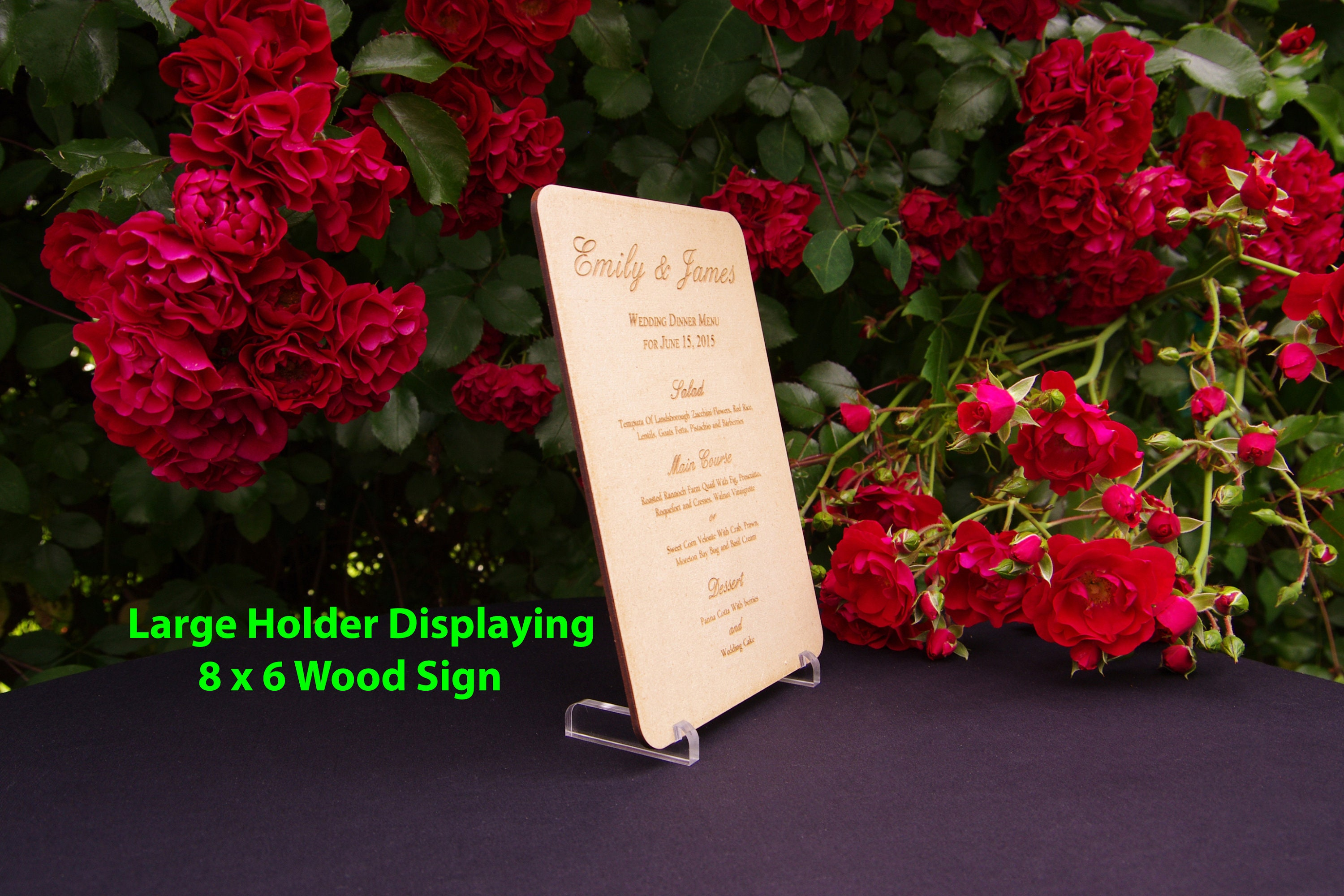 Acrylic Table Number Holder - Acrylic Menu Holder For Sign - Wedding ...