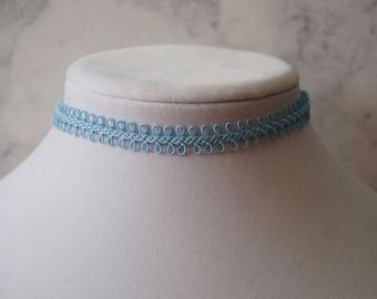 Sky Blue Choker Necklace