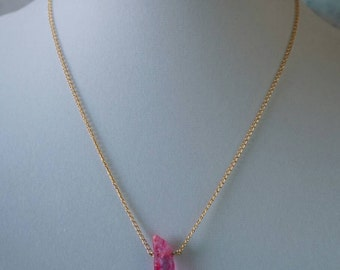 Pink Natural Stone Necklace