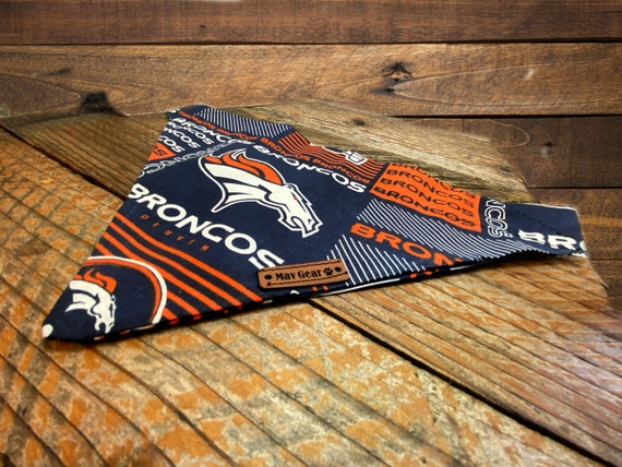 Dog Bandana Mav Gear Have NFL Denver Bronco's