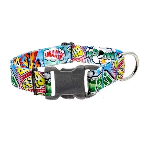 Fur-ulous Comic Fun Collar, Waterproof and Mildew Proof dog collar, Unique Dog Collars, Superhero Collar, Playful Collar, Outdoor Collar