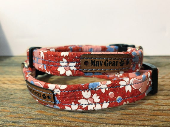 Dog Collar, designer dog collar, cute puppy collar, by Mav Gear floral will have your darling looking adorable.