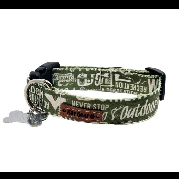 Dog Collar, Waterproof dog collar, Mildew proof collar, Green Collar, Unique Dog Collars, Cute Puppy Collar, Cool Collar, Outdoor Collar