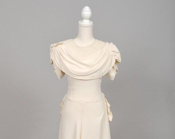 1940 Crepe Vintage Wedding Gown