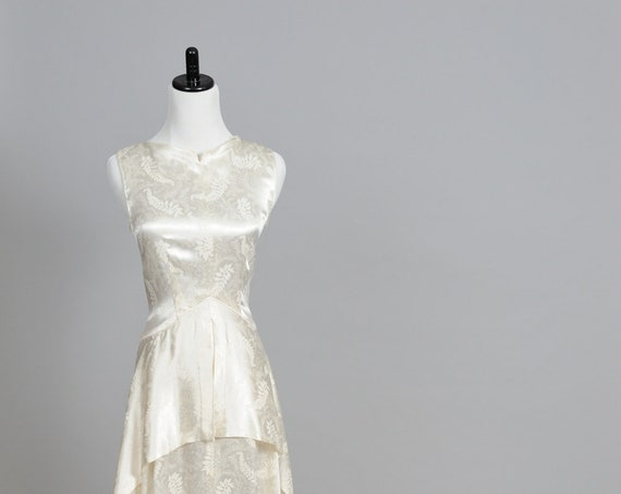 1940 Slipper Satin Vintage Wedding Gown