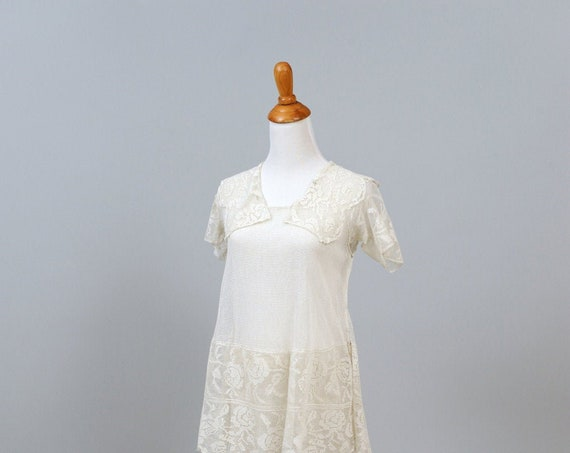 1930 Lace And Net Vintage Wedding Dress