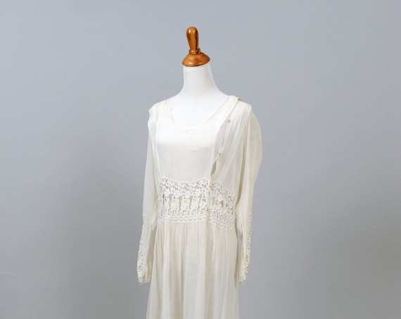 1920 Vintage Gunny Sac Style Wedding Dress