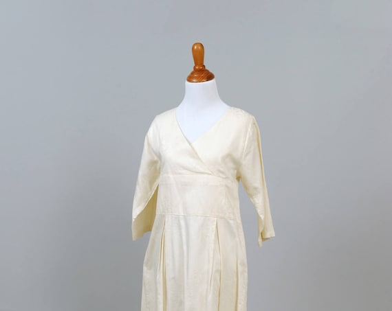 1970 Printed Cotton Vintage Wedding Dress