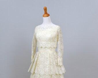 1960's Lace Ensemble Vintage Wedding Gown