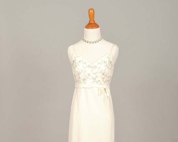 1960 Mod Slip Vintage Wedding Dress