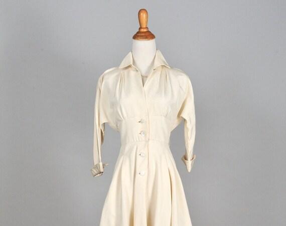 1950 Silk Vintage Wedding Coat Dress