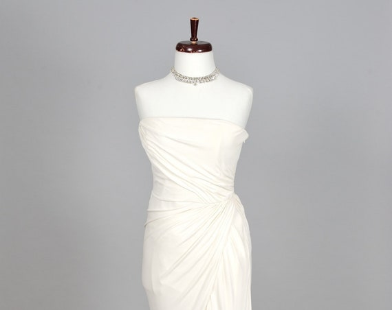 1980 Badgley Mischka Vintage Wedding Gown