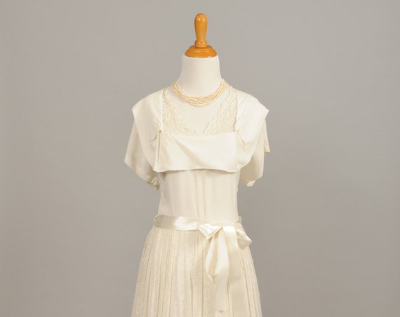 1950's Sweet Afternoon Vintage Wedding Gown