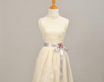 1950 Silk Chiffon Vintage Wedding Gown