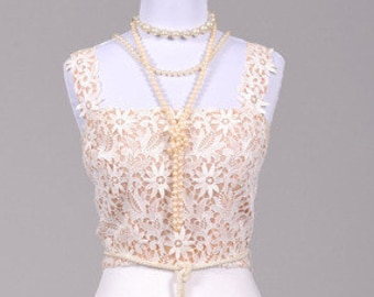 1970s Crocheted Daisy Vintage Wedding Gown