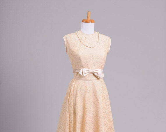 1950 Blush Lace Vintage Wedding Ensemble