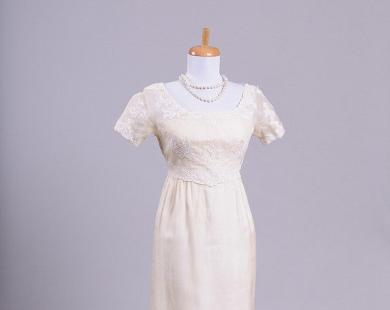 1960 Silk Organza Vintage Wedding Gown