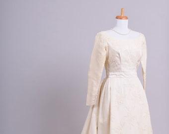 1960 Bianchi Silk Vintage Wedding Gown
