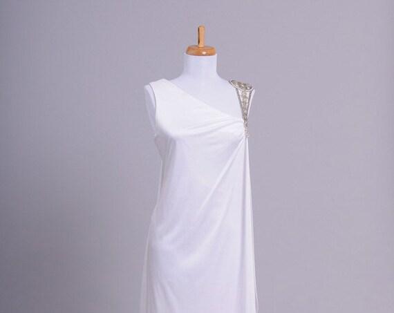 1970 Jeweled Vintage Wedding Gown