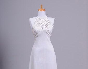1970s Halter Vintage Wedding Gown