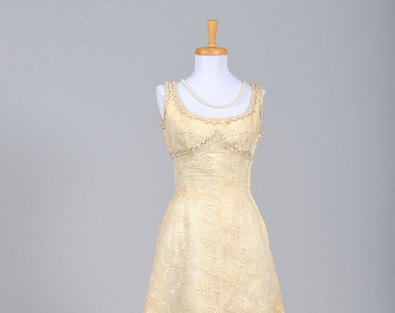 1940 Organza Cocktail Vintage Wedding Dress