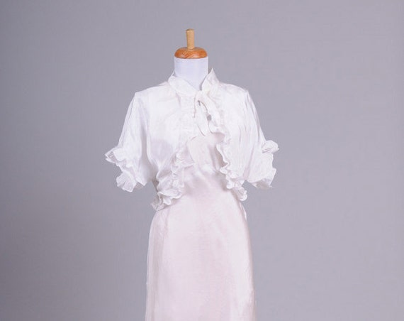 1940 Jean Harlow Vintage Wedding Ensemble