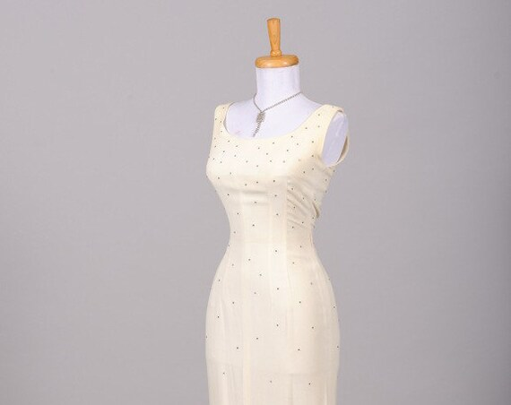 1960 Rhinestone Wiggle Vintage Wedding Dress