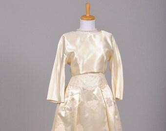 1960 Silk Lace Vintage Wedding Ensemble
