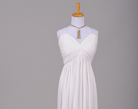 1970 Ribbed Jersey Vintage Wedding Gown