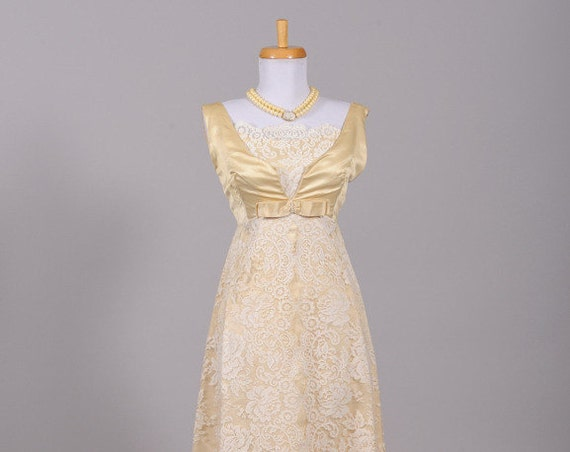 1960 Priscilla Of Boston Lace Vintage Wedding Gown
