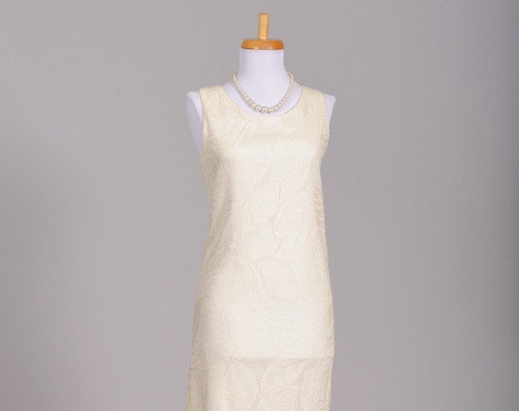 1970 Flapper Knit Vintage Wedding Dress