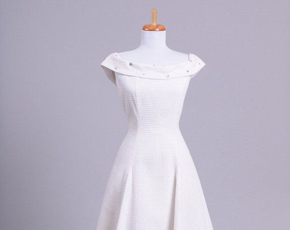 1980 Pique Vintage Wedding Dress