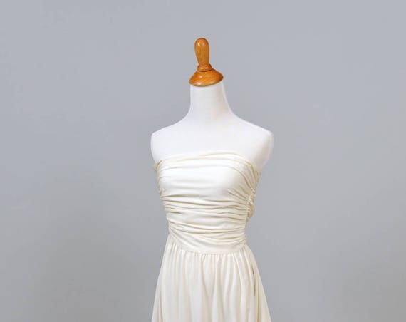 1970 Jersey Knit Vintage Wedding Dress