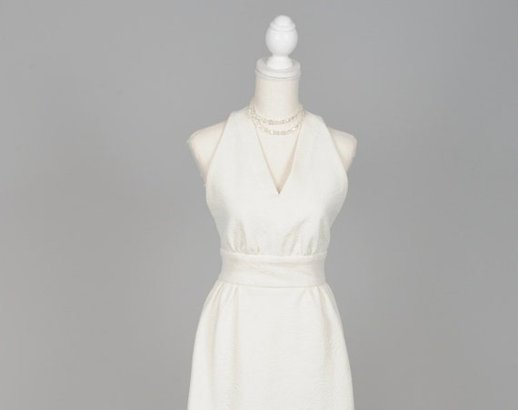 1970 Matelasse Vintage Wedding Gown