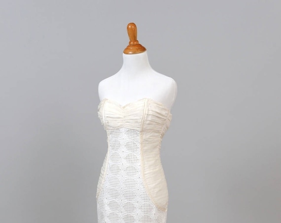 1980 Cotton Eyelet Vintage Wedding Dress