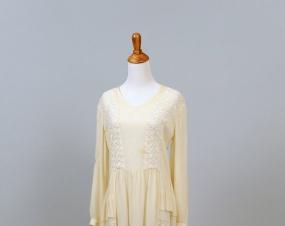 1920 Vanilla Gatsby Vintage Wedding Dress